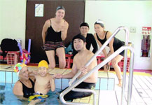 Working with pool physiotherapists in China
